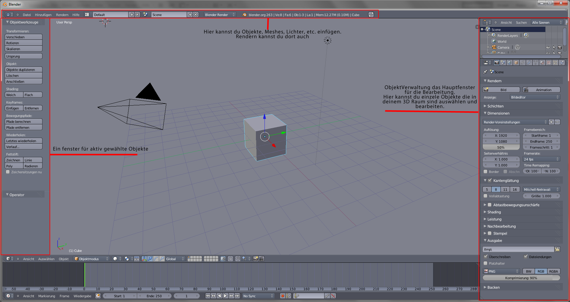 blender start bildschirm